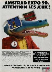 Anuncio de prensa de la Amstrad Expo 1990, evento en el que la GX4000 fue presentada en sociedad.
