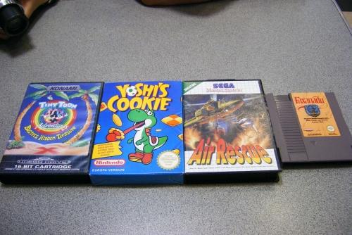 Los cuatro juegos con los que me hice.