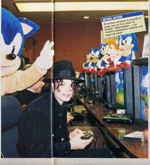 Sí, es él y está jugando al Sonic.